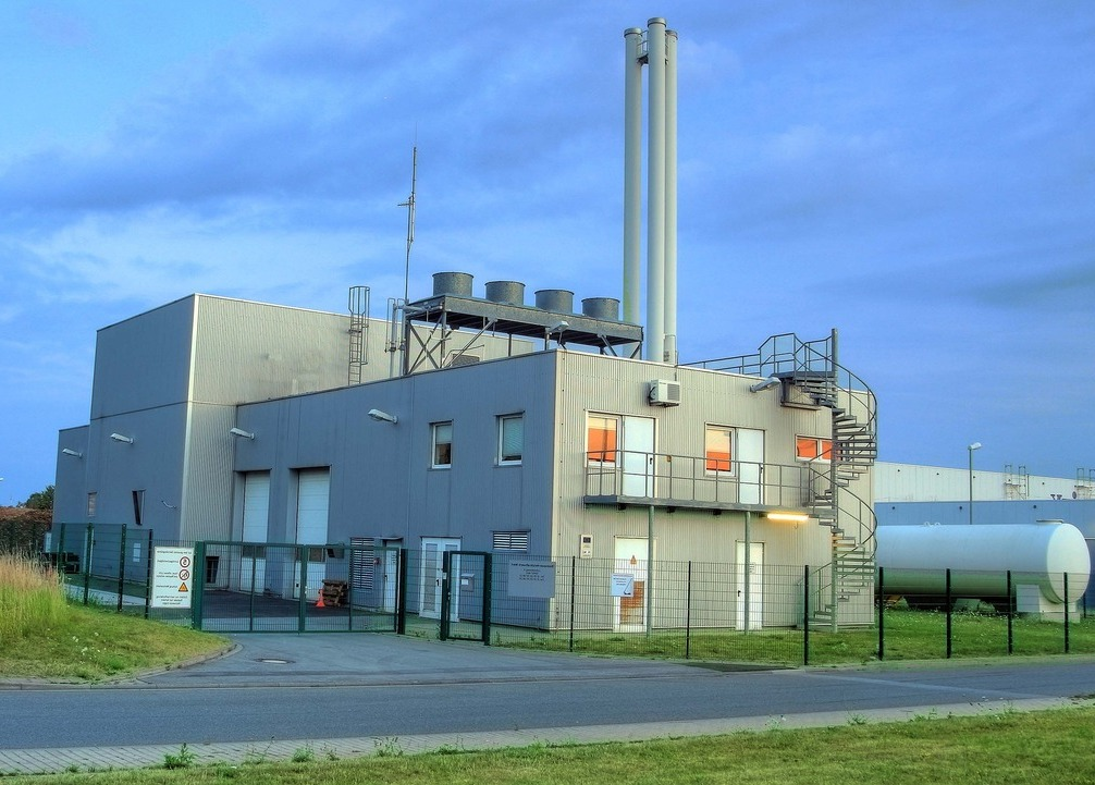 Biomass plants like the one pictured here, burn plant and animal waste to produce energy. At the same time, this practice also releases carbon dioxide into the atmosphere.